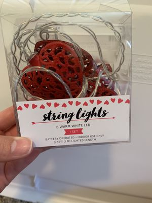 Red heart string lights for Sale in Tooele, UT