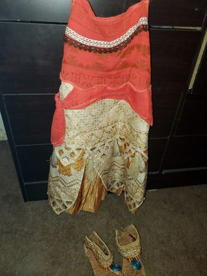 Moana costume with shoes for Sale in San Bernardino, CA