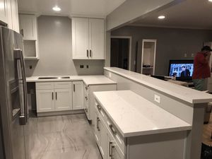 Solid wood RTA Kitchen Cabinet Quartz Counter tops Warehouse Open 2 Public for Sale in Los Angeles, CA