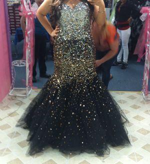Prom Dress, Mermaid Dress: Black Gold & Silver Ombré for Sale in Houston, TX
