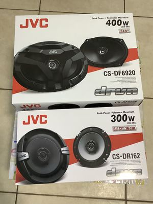 """SALE OR TRADE. JVC 6x9"""". 400 WATTS. AND. JVC 6.5"""" 300W Car Audio 2-WAY Coaxial - Car Speakers System / 4 Speakers. INSTALLATION AVAILABLE BUT N for Sale in Miami, FL"""