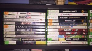40ish Xbox 360 games and 2 controller for Sale in Tampa, FL