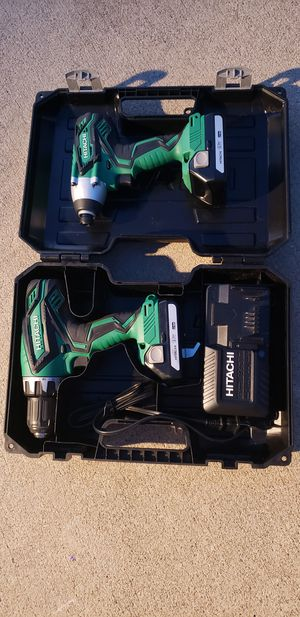 Hitachi 18v drill and impact set up for Sale in Angier, NC