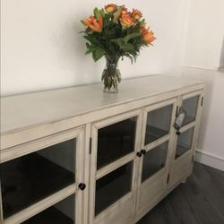 ⭐New Brand 🌜Deanford Antique White Accent Cabinet🌜▶️ for Sale in Silver Spring,  MD