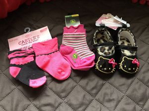 New baby shoes & socks 6-12 months for Sale in Santa Clarita, CA
