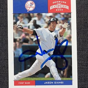 *OFFICIAL* Signed 2004 Jason Giambi Baseball Card for Sale in Covina, CA