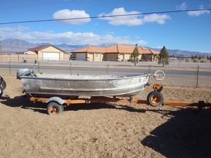 1955 boat with trailer & 2 motors for Sale in Pahrump, NV