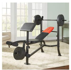 Weider Pro 265 Bench with Weight 80lb for Sale in Tempe, AZ