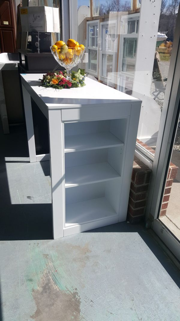 Small table with built in shelf