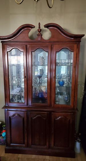 Antique Wood China Cabinet for Sale in Garrison, MD
