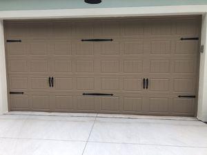 Black garage door hardware handles and straps for Sale in Clermont, FL