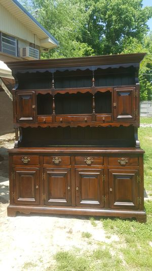 Solid wood china hutch for Sale in Eva, TN
