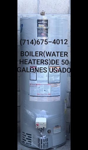 BOILER(WATER HEATERS)DE 50 GALONES USADO DE LA MARCA BRADFORD WHITE!! for Sale in Santa Ana, CA