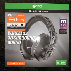 NEW!! Plantronics RIG 700 HX Wireless 3D Surround Sound Headset with Mic for Sale in Katy, TX