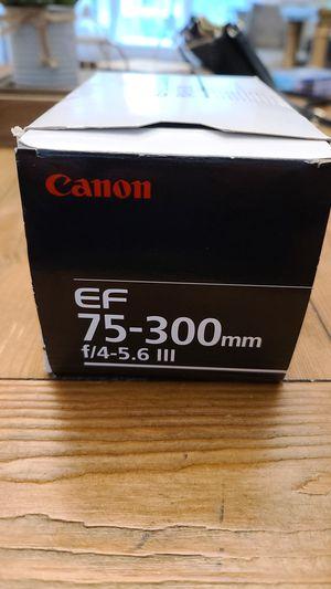 Canon EF 75-300mm f/4-5.6 brand new for Sale in Park Ridge, IL