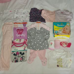 Baby Girl Diapers and Clothes for Sale in Grand Prairie, TX