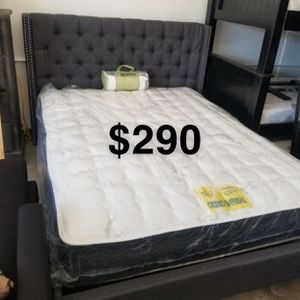 Queen bed frame and mattress included for Sale in Long Beach, CA