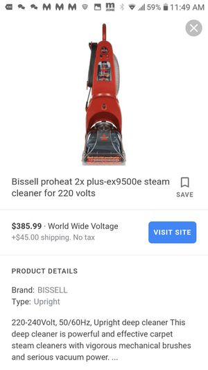 Bissel proheat vacuum for Sale in San Antonio, TX