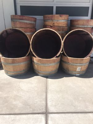 Wine barrel planters for Sale in Concord, CA
