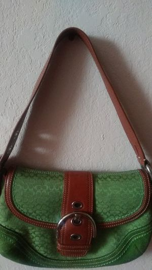Vintage Lime Green & Brown Coach handbag for Sale in East Point, GA