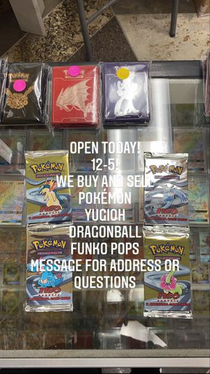Pokemon, yugioh, dragonball cards for sale! for Sale in Cypress, CA