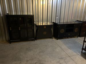 3pc Set Tv Stand, Entry table & Cabinet for Sale in Chesapeake, VA