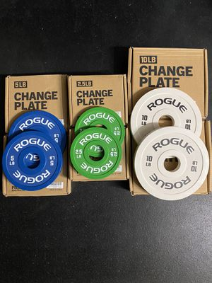 ROGUE Change Plates (2.5 + 5 + 10 lbs Set) for Sale in Pittsburg, CA