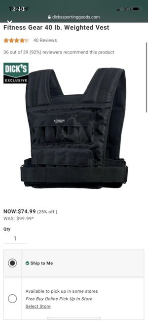 Weighted vest for Sale in Odenton, MD
