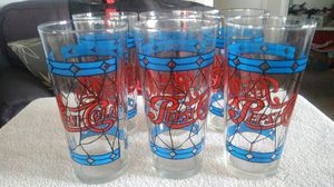 Vintage tiffany style pepsi collector drinking glasses for Sale in Henderson, NV