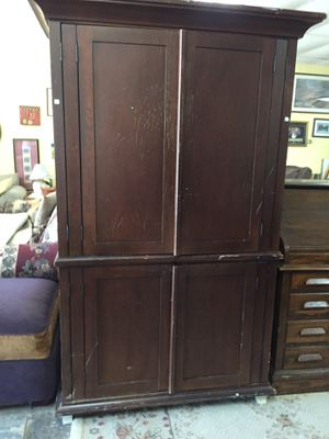 Walnut Finished Wardrobe for Sale in Wendell, NC