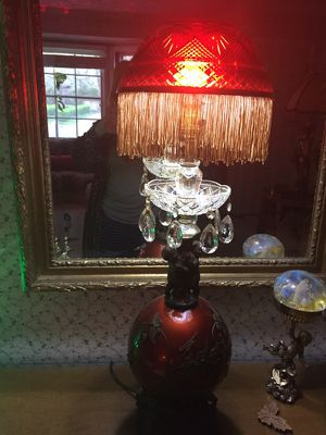 Red vintage bubble lamp for Sale in Grosse Pointe Park, MI
