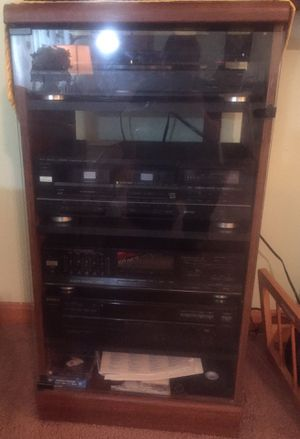 Fisher and Sony Components and Cabinet for Sale in Wichita, KS