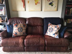 Brown Leather Sofa for Sale in Alexandria, VA