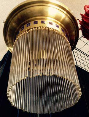 Swarovski Strass crystal flush mount lamp by Orion Vienna Austria H14 x W 8 1/4 inch for Sale in Chandler, AZ