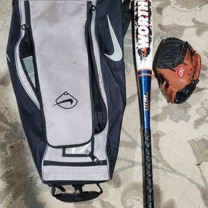 Baseball Bag W Bat And Glove for Sale in Bonney Lake, WA
