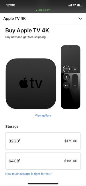 Apple TV 32GB 4K for Sale in Glendale, CA