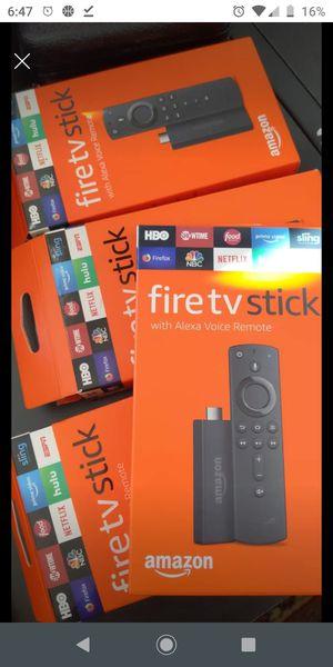 Amazon Fire TV Stick w/ Voice Remote - Unl0ck3d for Sale in Pompano Beach, FL