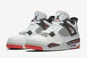 "New Nike Air Jordan 4 IV Retro ""Pale Citron"" White/Black-Bright Crimson Size 12 for Sale in Fresno, CA"