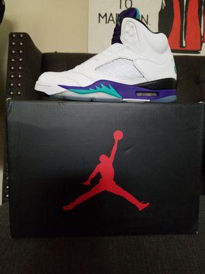 Nike Air Jordan 5 Retro- Grape Fresh Prince for Sale in Milwaukee, WI