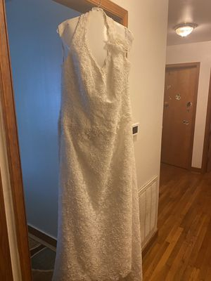 Off-White Halter-Top Beaded Wedding Dress for Sale in Henrico, VA