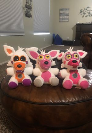 Five nights of Freddy plushies for Sale in Peoria, AZ