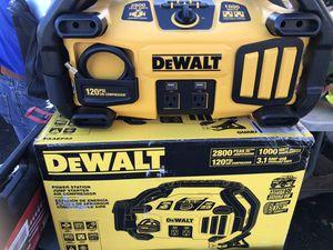 Dewalt portable power jump starter and compressor for Sale in Paramount, CA