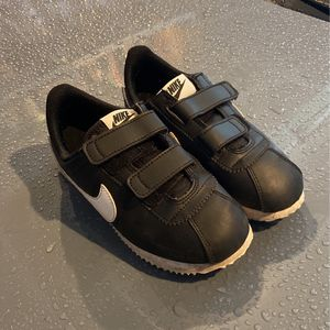 Black Nikes -leather Size 1 Velcro for Sale in Bothell, WA