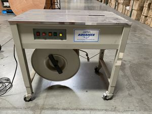 Advance Packaging Systems Inc. Automatic strapping machine - SP4 Works great Includes partial roll of poly strapping for Sale in Ontario, CA
