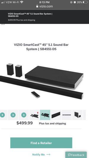"VIZIO SmartCast 45"" 5.1 TV Sound Bar System w Subwoofer for Sale in Malden, MA"