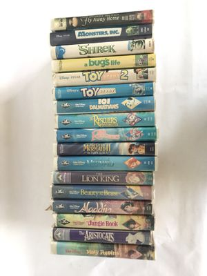 CLASSIC DISNEY VHS COLLECTION + VCR PLAYER ( JVC HR-J443U ) for Sale in Dana Point, CA