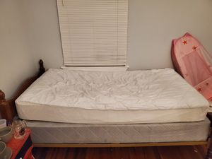 Twin mattress, bed and frame for Sale in Savannah, GA