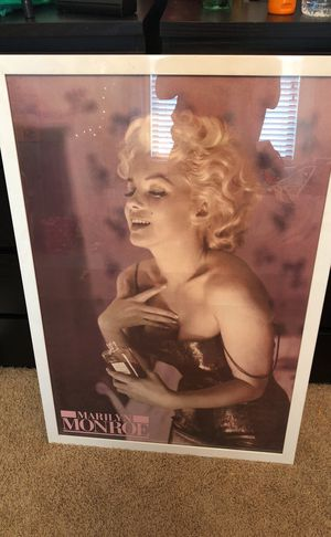 Marilyn Monroe poster with frame for Sale in Modesto, CA