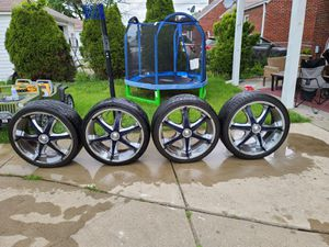 Rams with tires for 2003 trailer blazer 22 inch were on the blazer for Sale in Dearborn, MI