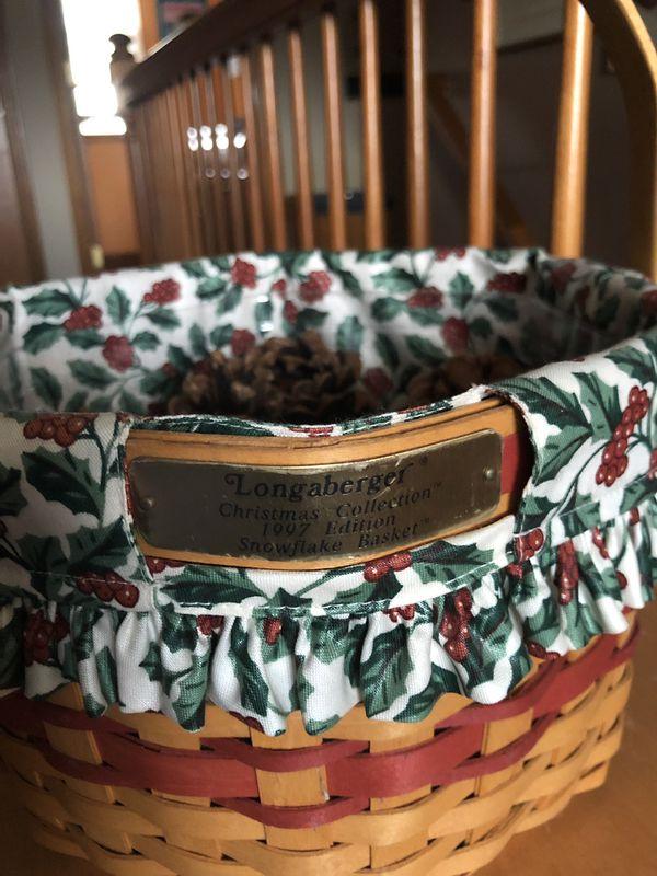 LONGABERGER 1997 Snowflake basket